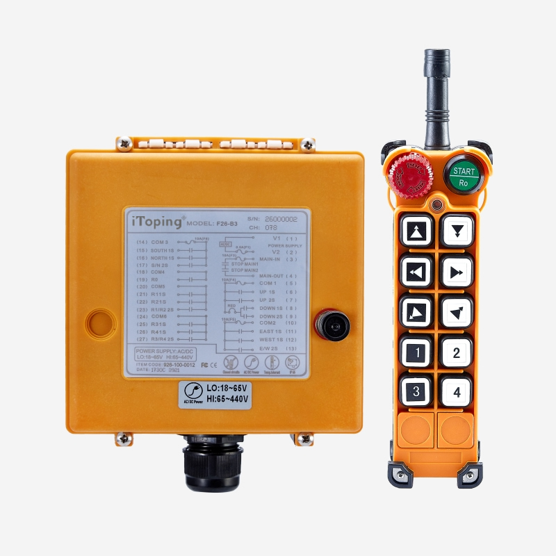 Industrial Wireless Double Speed Crane Remote Control F26-B3
