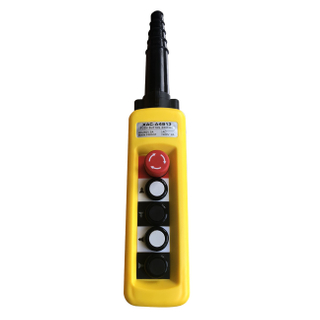 Industrial 5 Push Buttons Double Speed Rainproof Pendant Crane Control